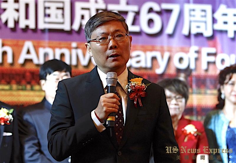 中国驻洛杉矶总领馆刘健大使。庞可阳摄