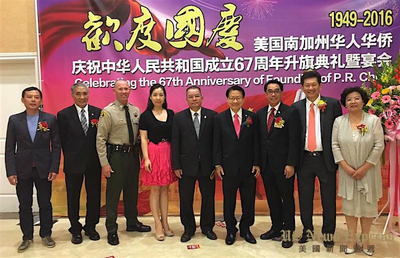 右起:温桂芃、方孝伟、林达坚、伍国庆、李锦生、刘茁、斯科洛金。庞可阳摄