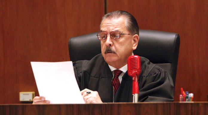 洛杉矶郡高等法院法官罗米利。庞可阳摄