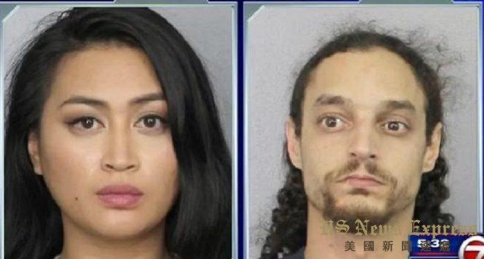 佛州居民Anthony Gomes and Elizabeth Ton 被捕。警局提供